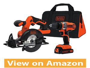 Black and Decker BDCD220CS 20-Volt MAX lithium-ion drill Driver and Circular Saw Kit