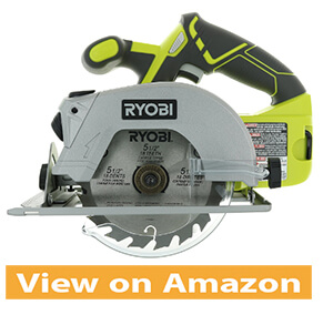 Ryobi P506 One+ 18-volt Lithium-ion 5 1 2 in. cordless circular saw with laser